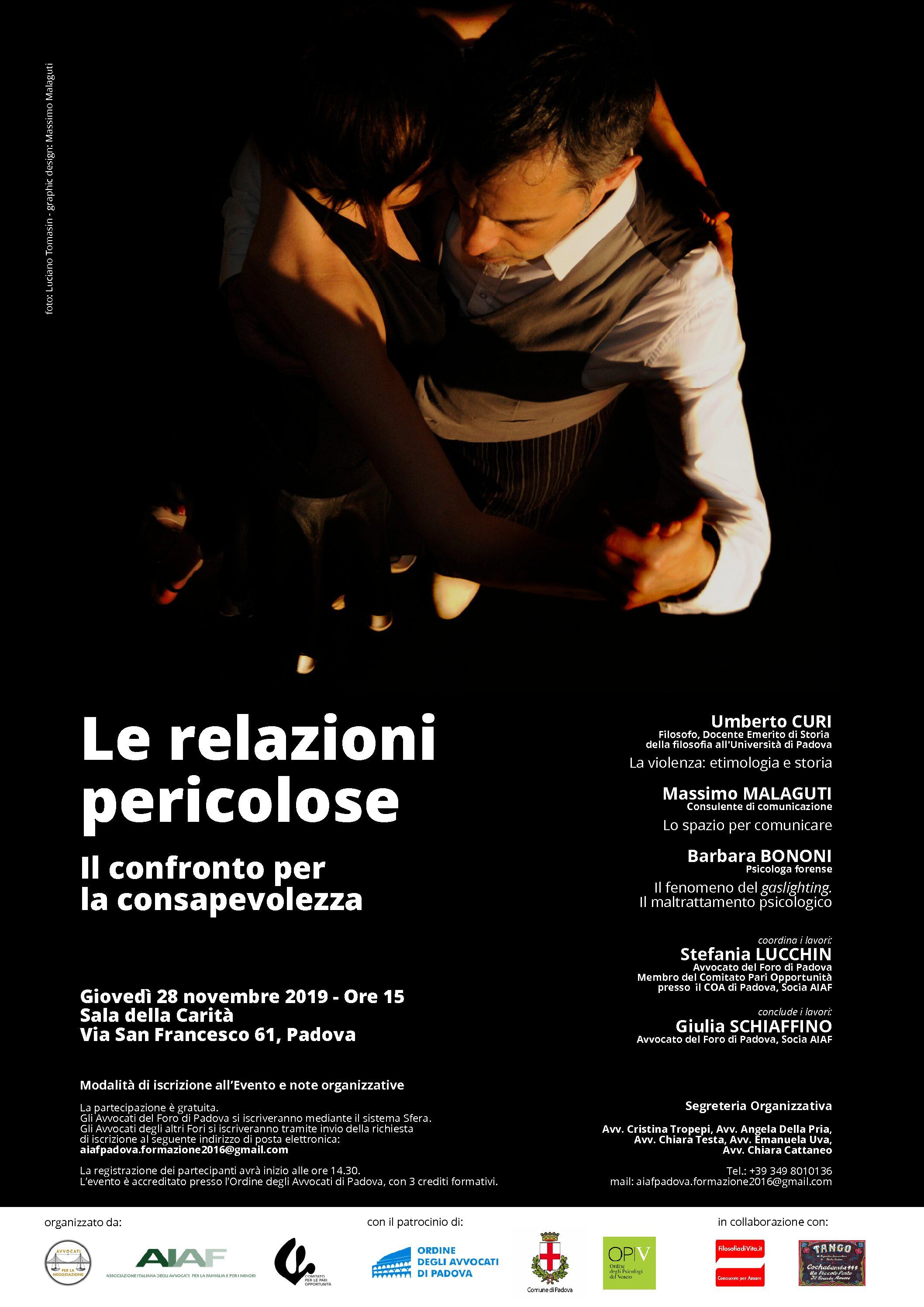 28.11.2019 Violenza di genere Le relazioni pericolose Il confronto per la consapevolezza