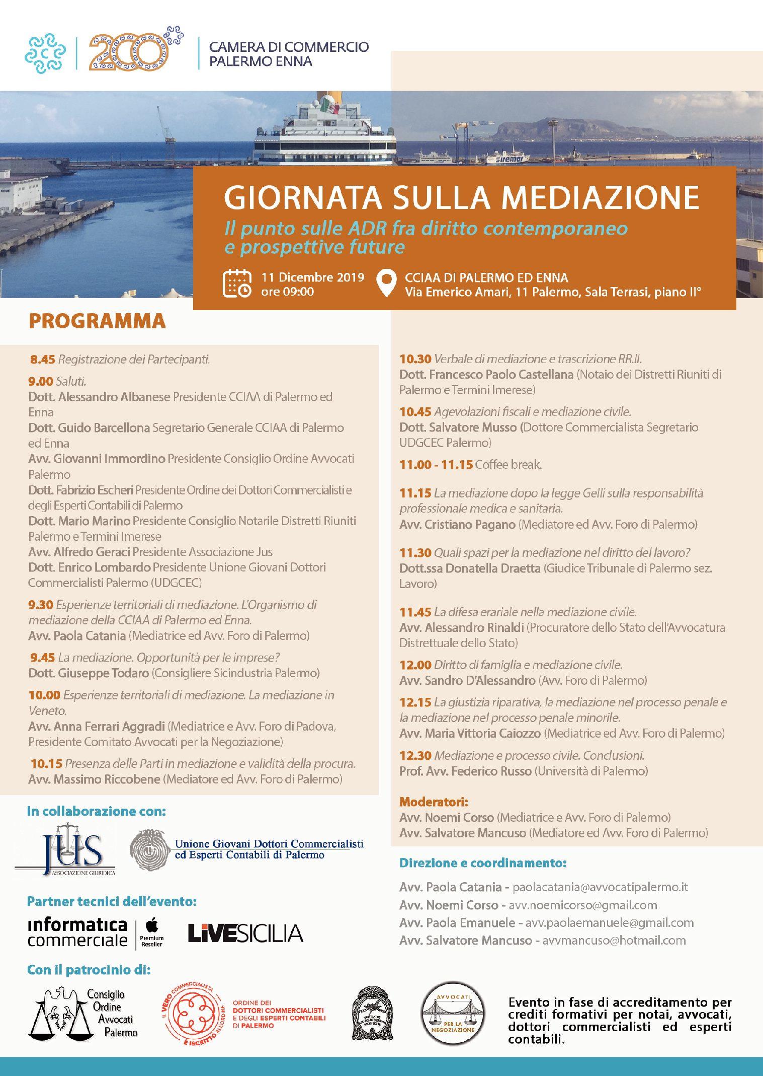 Giornata sulla mediazione Palermo 11.12.2019